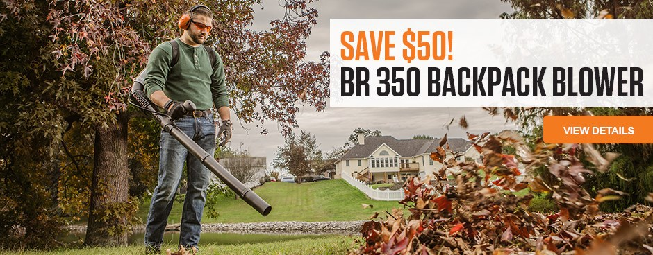 Save $50 on BR 350 Backpack Blower
